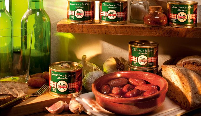 Choricitos a la sidra