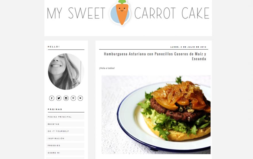 blogger carrot cake